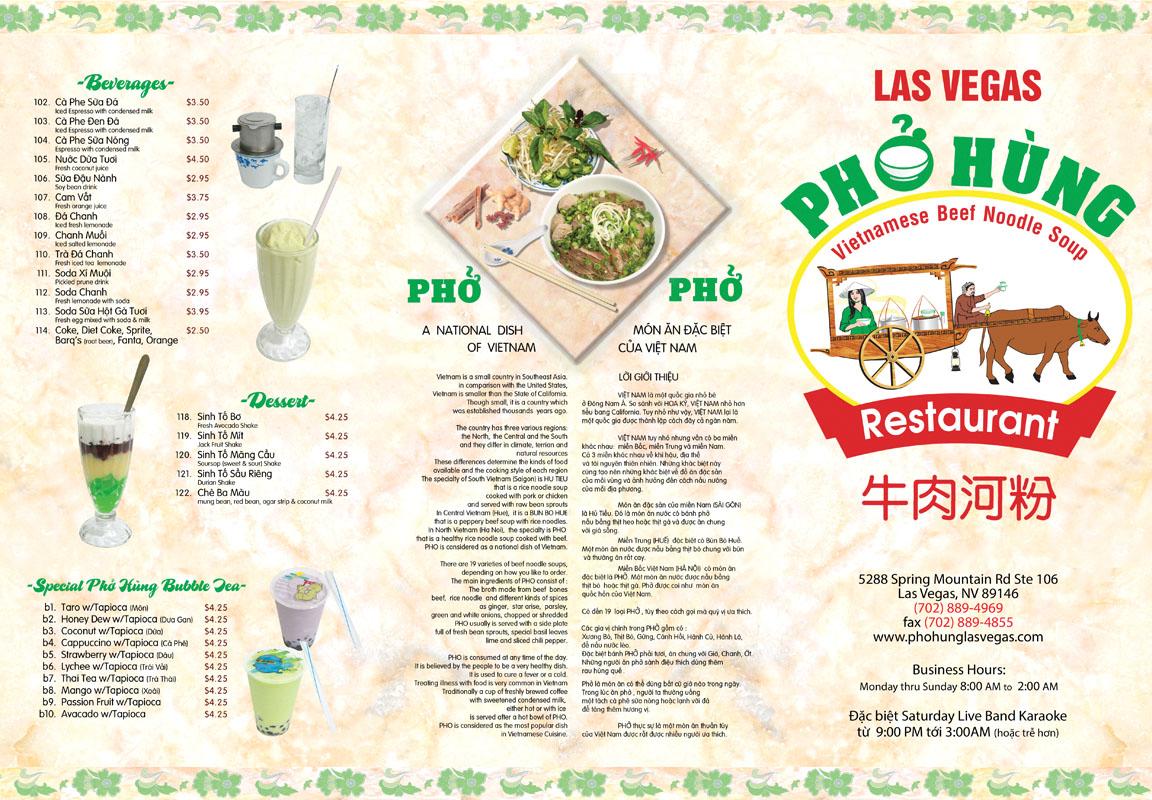 Pho hung best vietnamese restaurant in las vegas think research expose think research expose for Cuisine las vegas