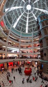 Suria KLCC, located between the Petronas Twin Towers. Kuala Lumpur, Malaysia.
