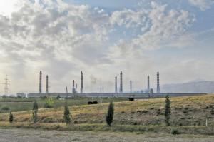Tajik Aluminum Smelting Plant.