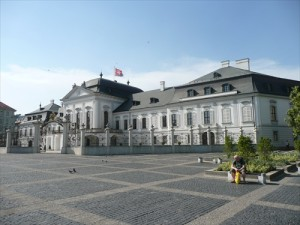 Grassalkovich Palace, seat of the President of Slovakia.