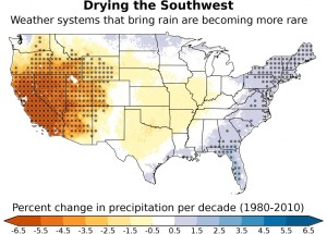 American South West is getting drier