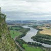 Kinnoull Tower, with a view of the River Tay from Kinnoull HIll, Perthsire.